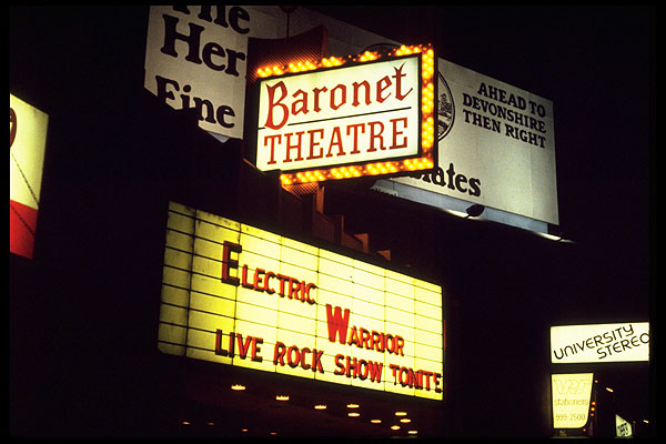 Marquee at Baronet - Electric Warrior band
