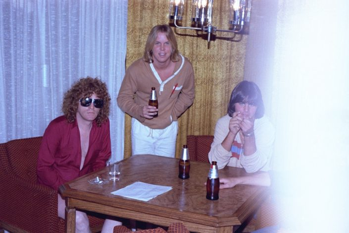 Scott with Ian Hunter - Raw Power Magazine