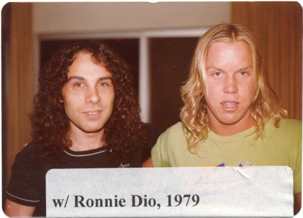 Scott Stephens with Ronnie Dio - Raw Power Magazine