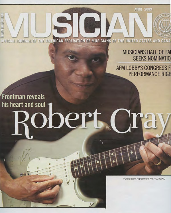 Robert Cray on Musician Cover